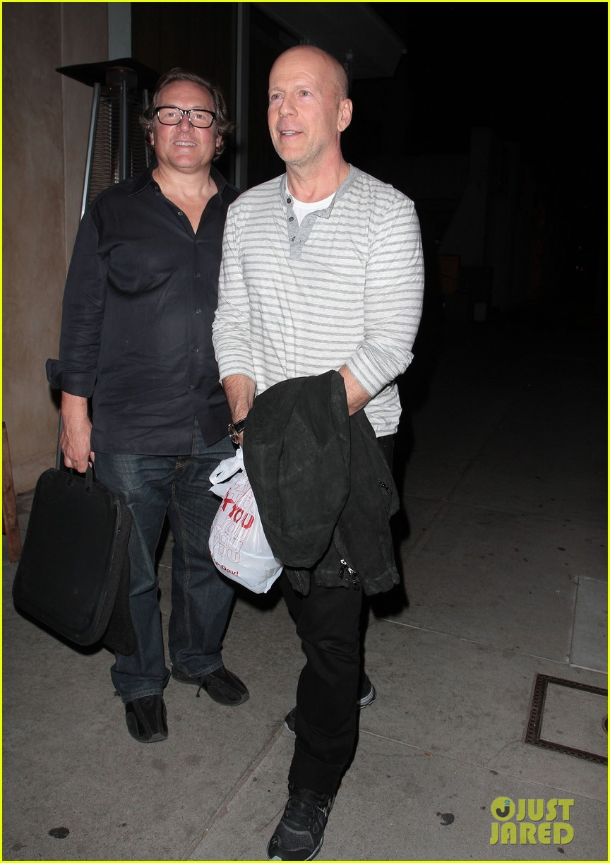 bruce willis dines with red producer after baby news 04
