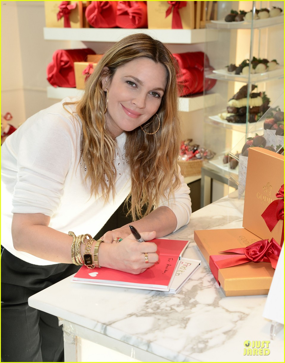 drew barrymore partners with godiva to launch new book 04