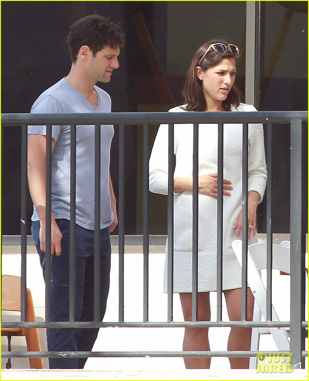 justin bartha new wife lia smith relax after wedding 083023901