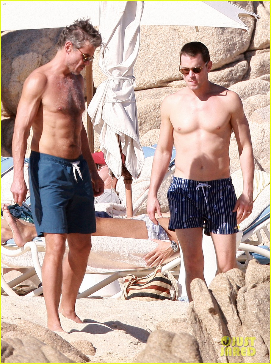 matt bomer shirtless sexy cabo vacation with simon halls 343035195