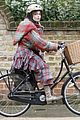 helena bonham carter bikes in the rain with son billy 09