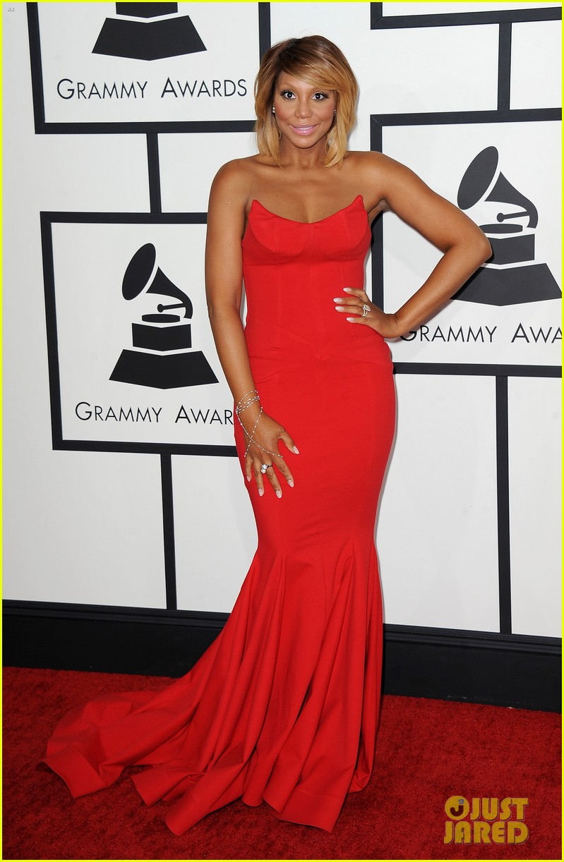 tamar braxton grammys 2014 red carpet 053040982