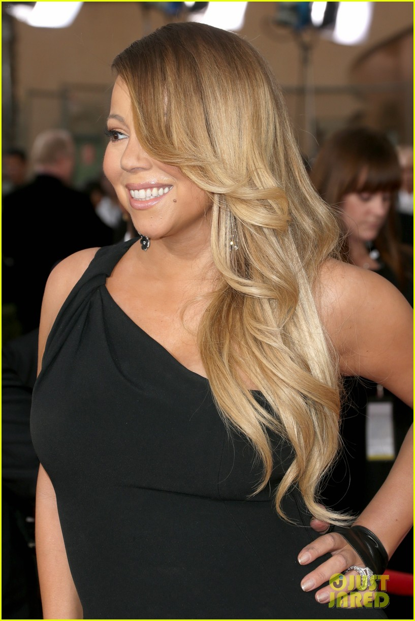 mariah carey sag awards 2014 red carpet with nick cannon 023034805