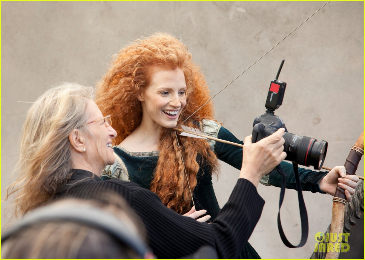 jessica chastain princess merida for disney dream portrai 02