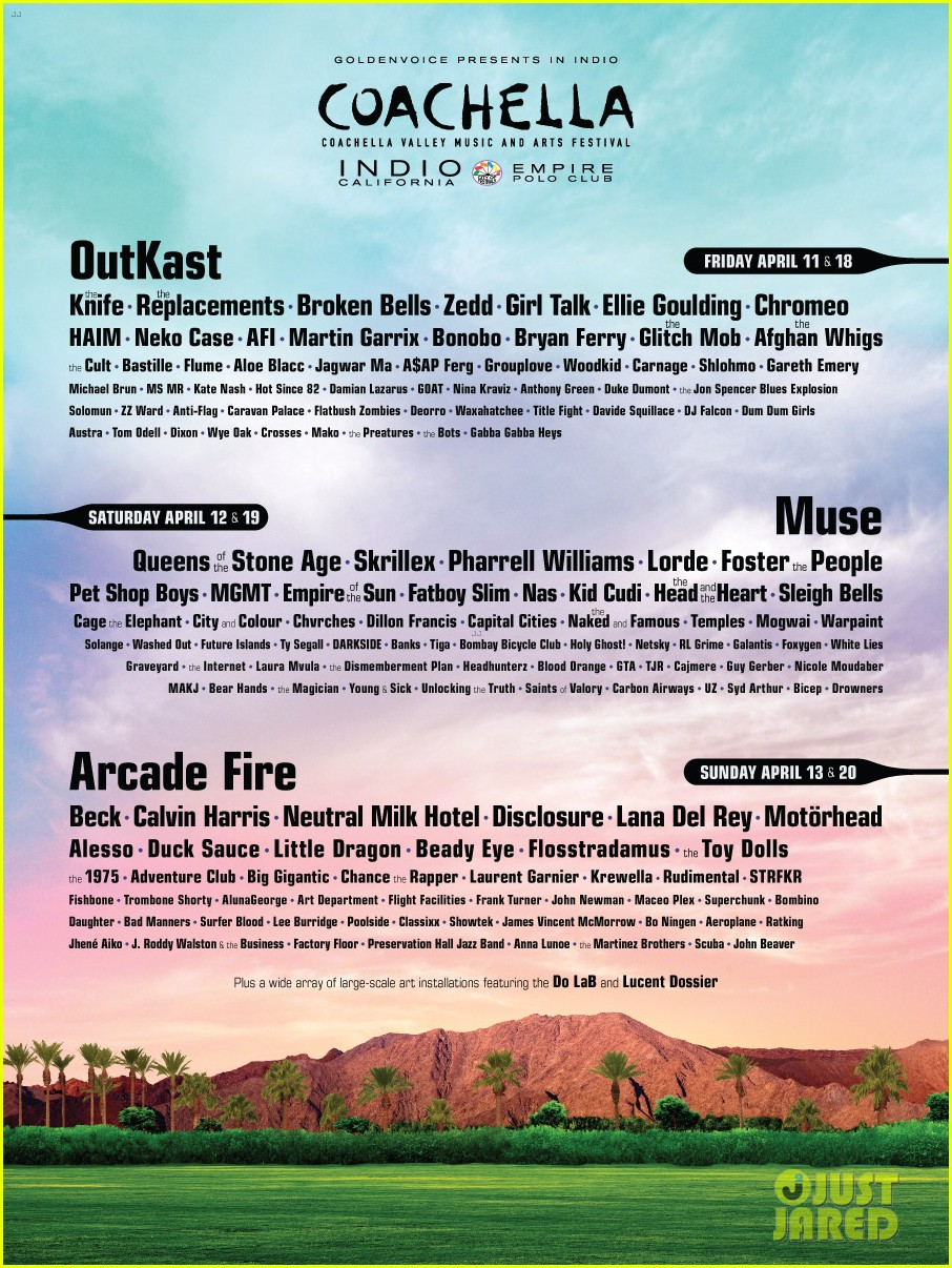 coachella 2014 lineup announce full list here