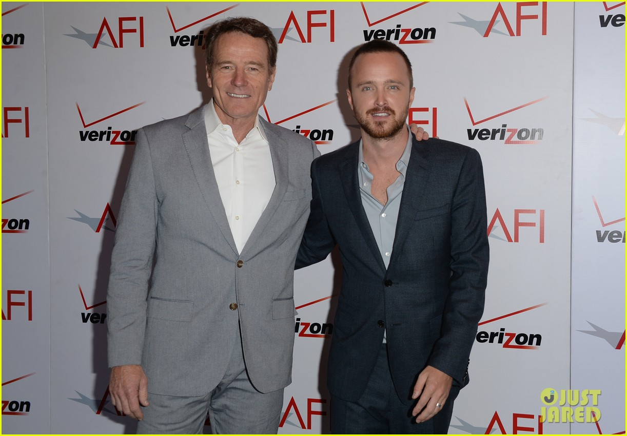 aaron paul bryan cranston afi awards luncheon 2014 09