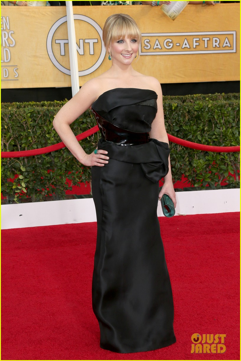 kaley cuoco ryan sweeting sag awards 2014 red carpet 083034946