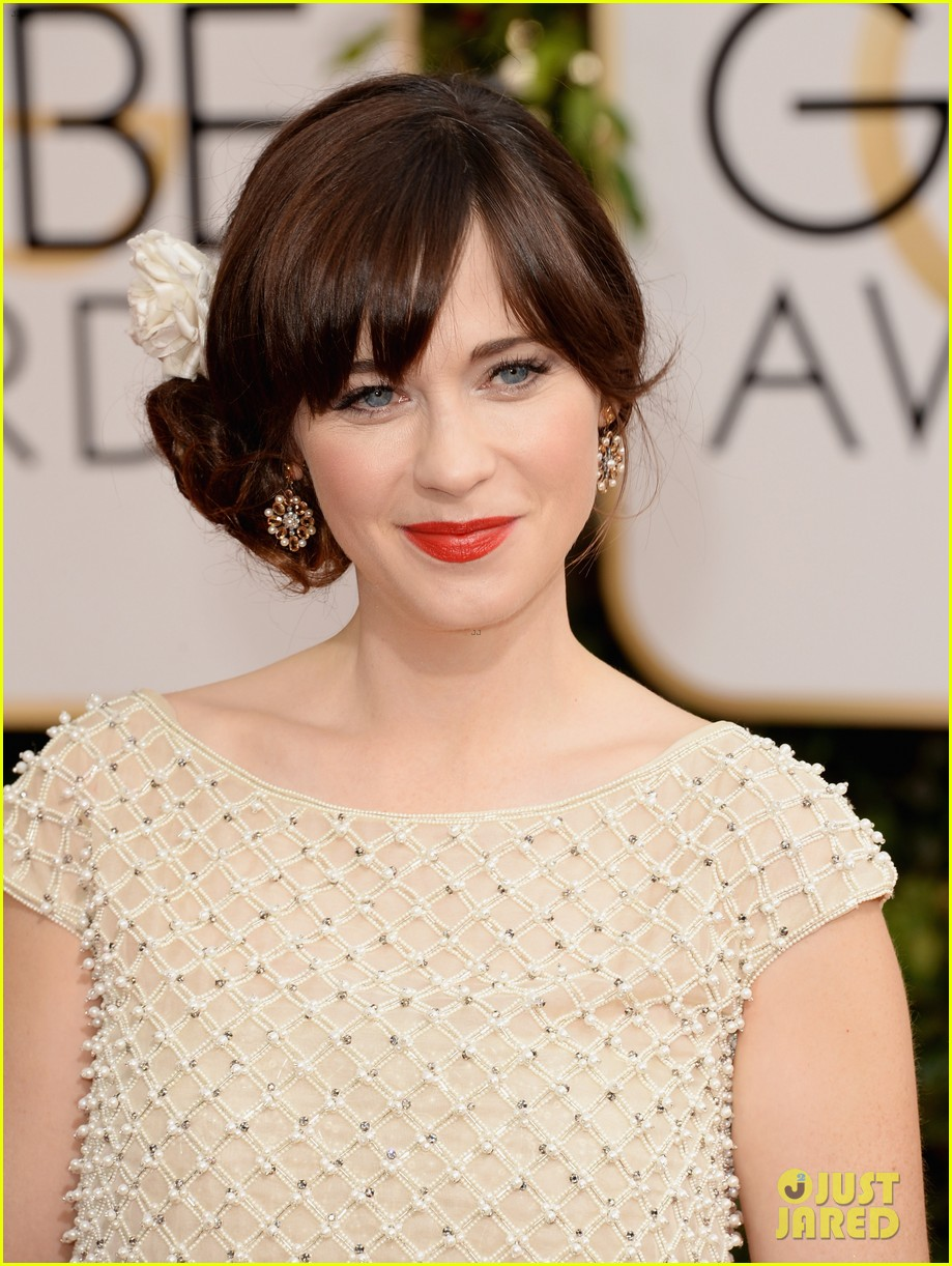 zooey deschanel golden globes 2014 red carpet 06