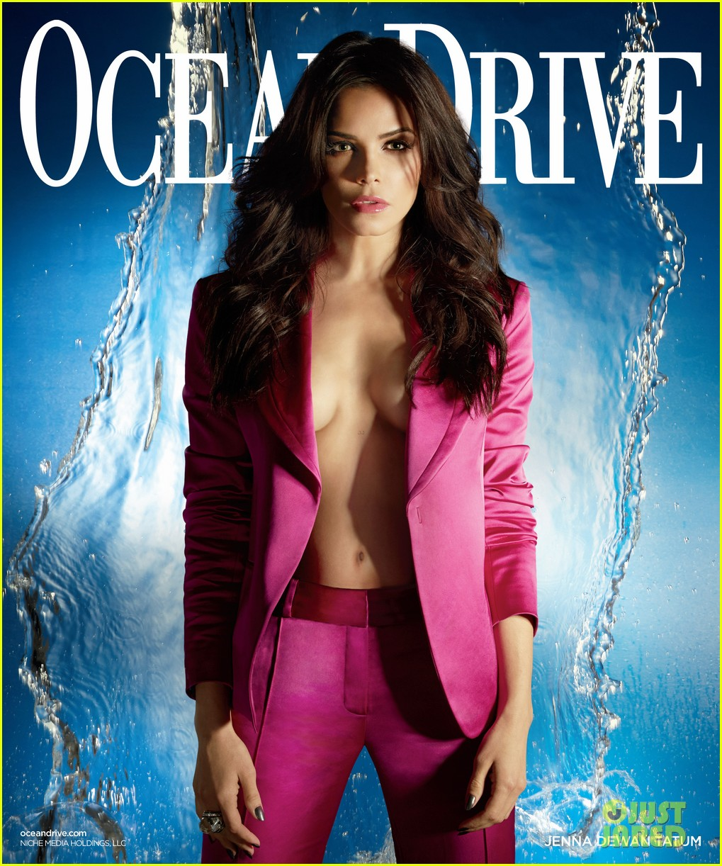 jenna dewan displays cleavage for ocean drive 06
