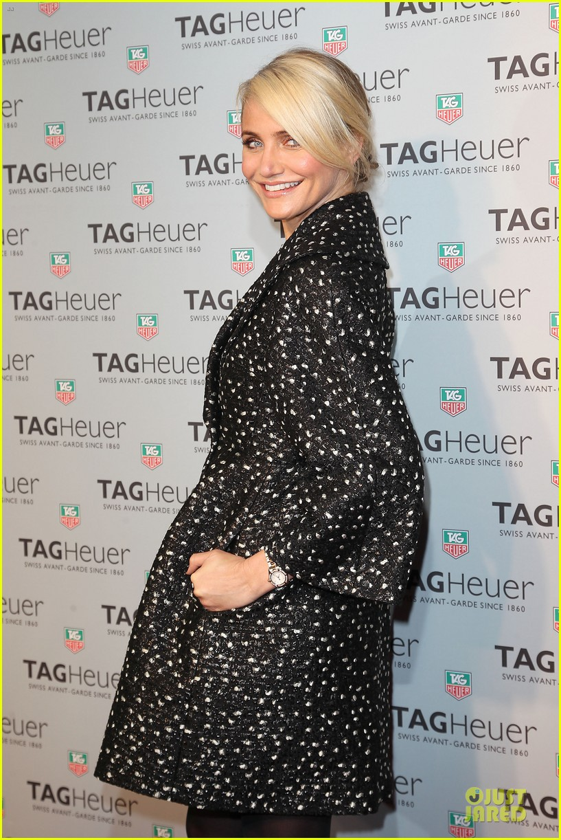 cameron diaz tag heuer ny flagship store opening 04