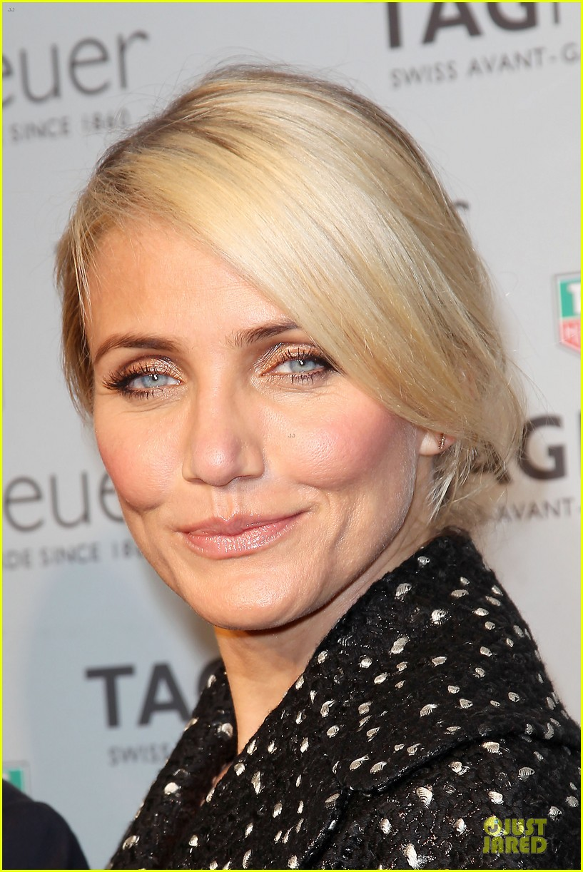 cameron diaz tag heuer ny flagship store opening 10