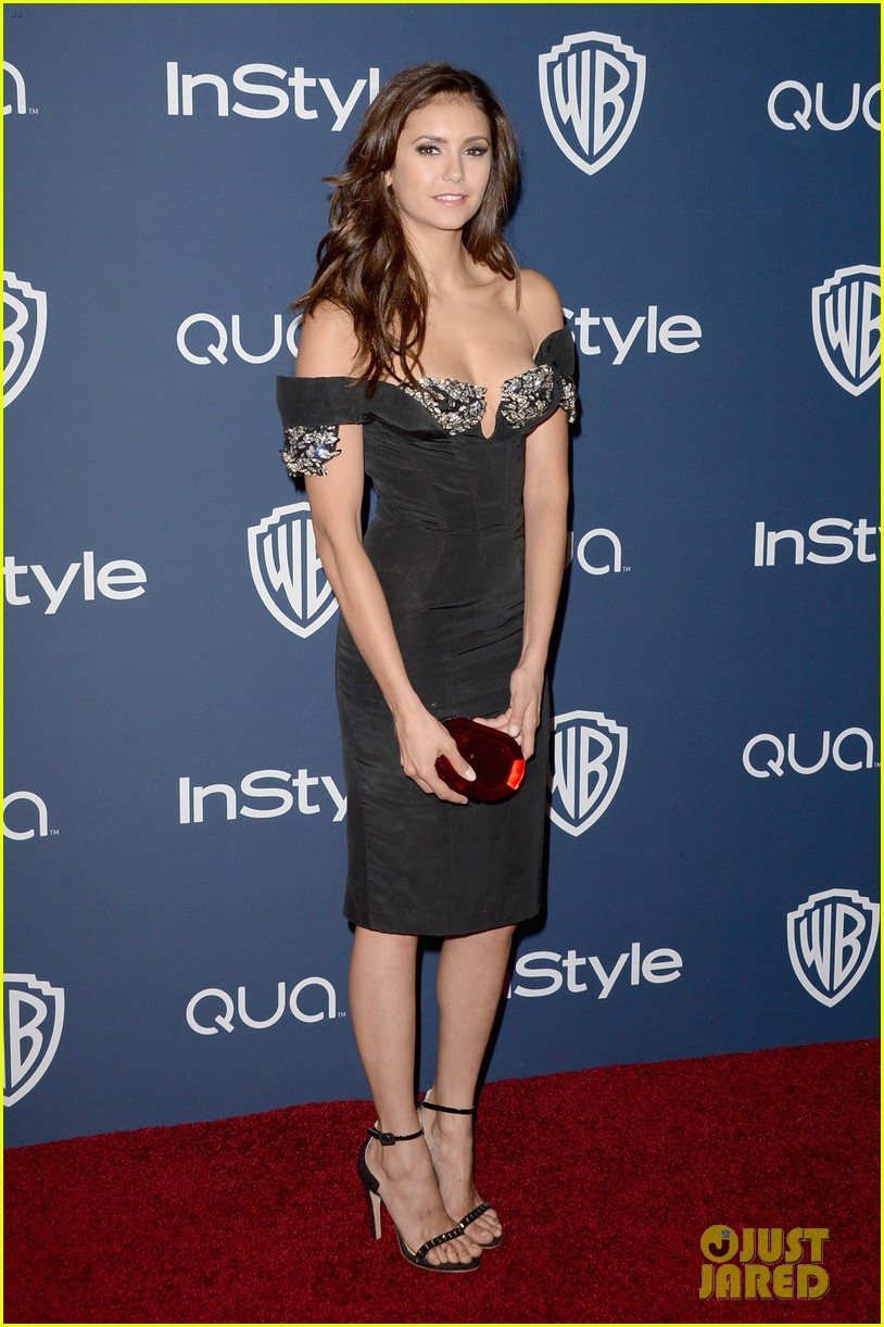 nina dobrev paul wesley instyle golden globes party 2014 03