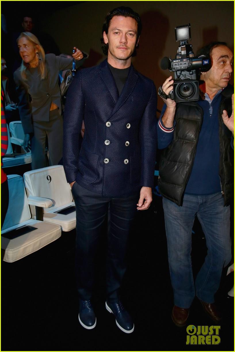 luke evans giorgio armani milan fashion show 01