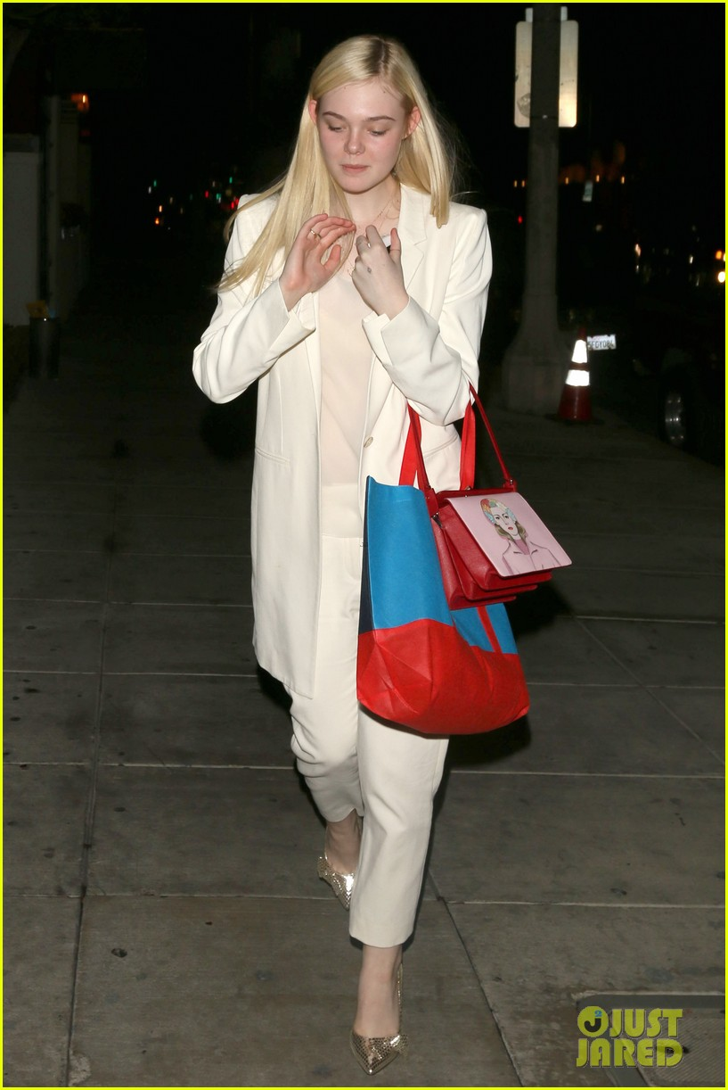 elle fanning matsuhisa dinner date with male friend 173042221