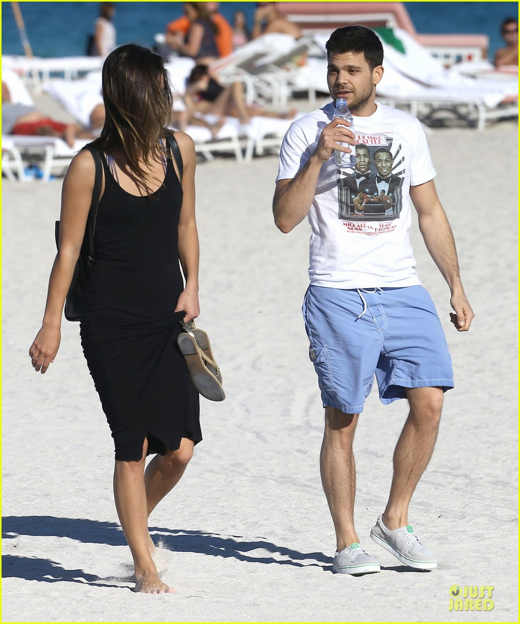 jerry ferrara shirtless miami beach lounging with girlfriend 133036120