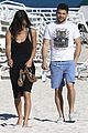 jerry ferrara shirtless miami beach lounging with girlfriend 11
