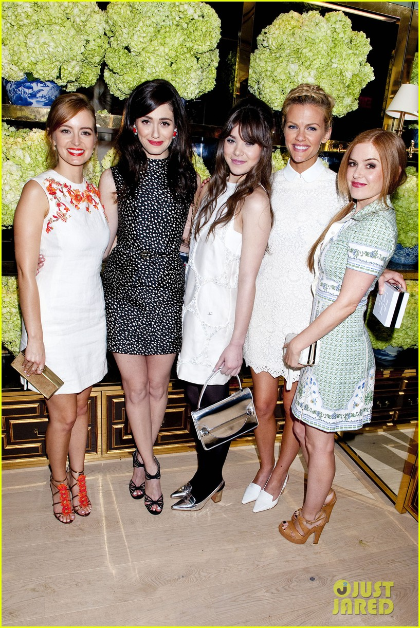 isla fisher ahna oreilly tory burch flagship store opening 063031763