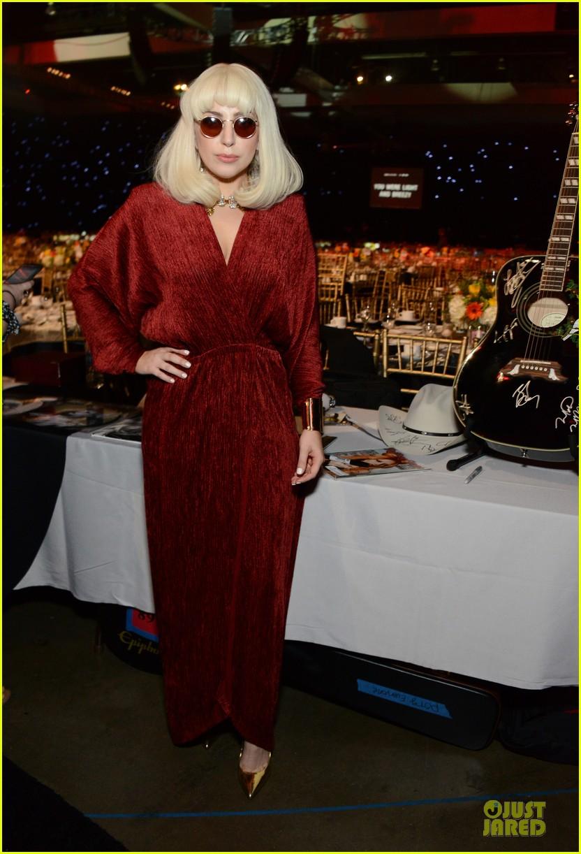 lady gaga white cut out dress at musicares gala 2014 053039700
