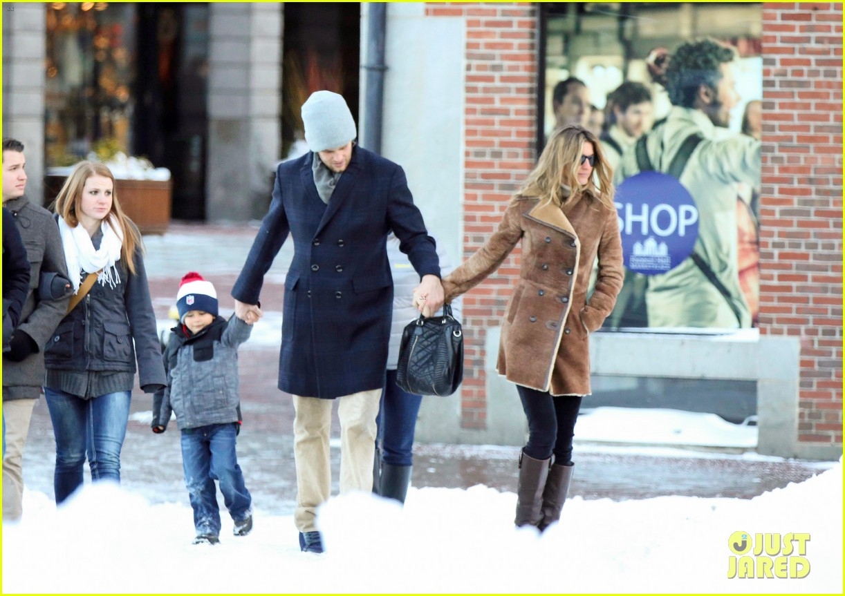 gisele bundchen tom brady boston fun with benjamin 07