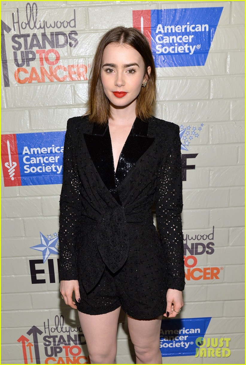 selena gomez lily collins help hollywood stand up to cancer 09