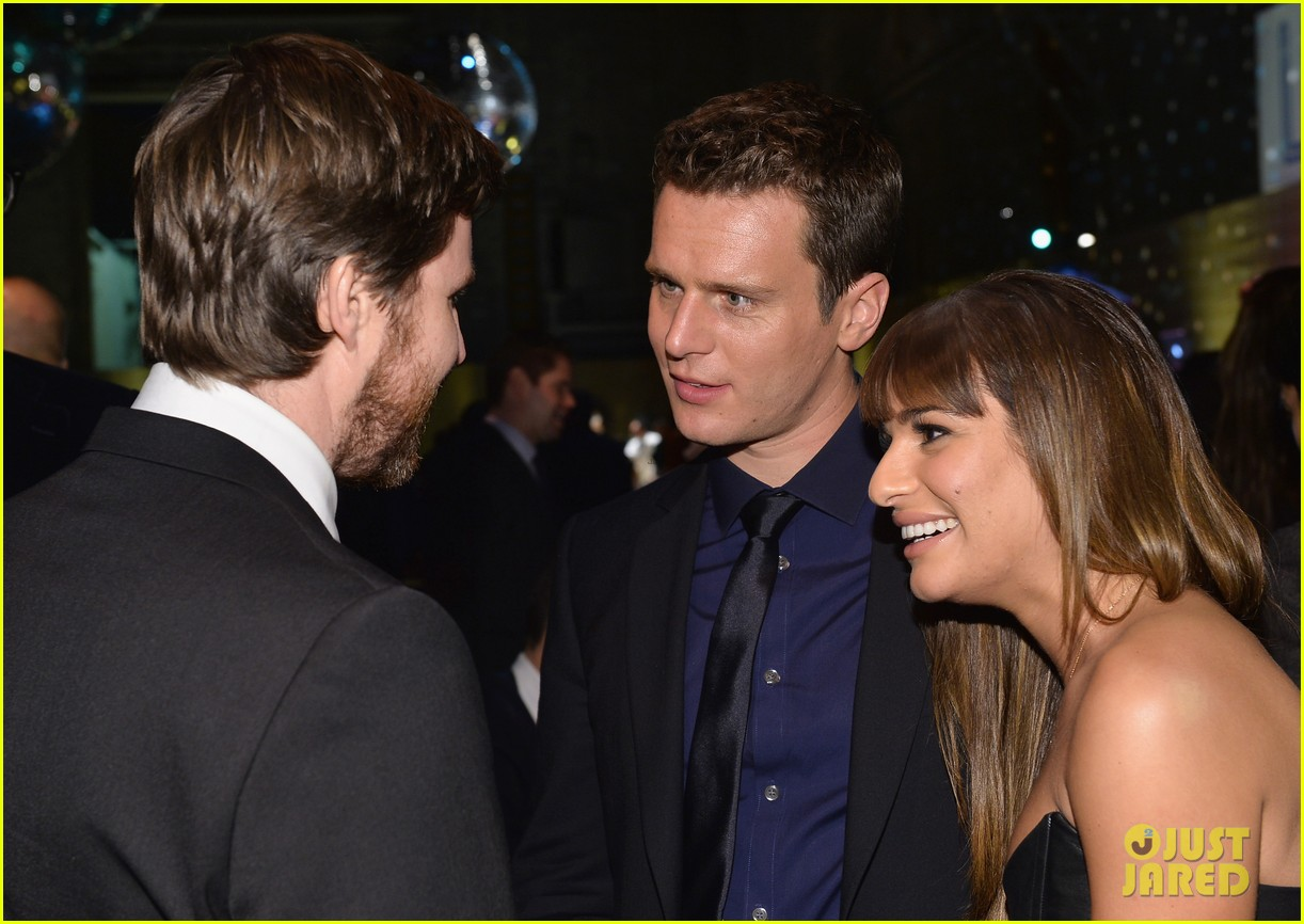 jonathan groff lea michele looking hollywood premiere 18