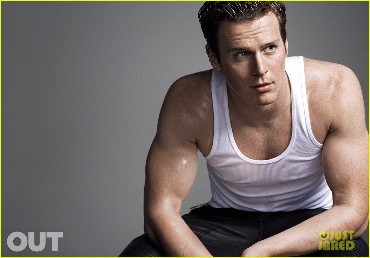 And thankfully  this is one celeb who  in conversation  matches the    Jonathan Groff Shirtless