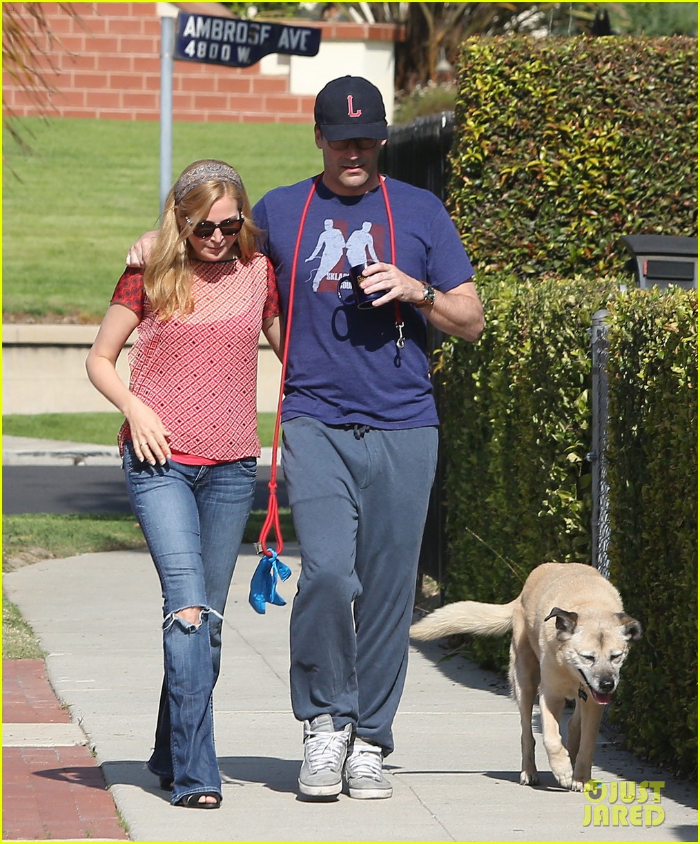 jon hamm stays comfy in sweatpants for morning dog walk 01