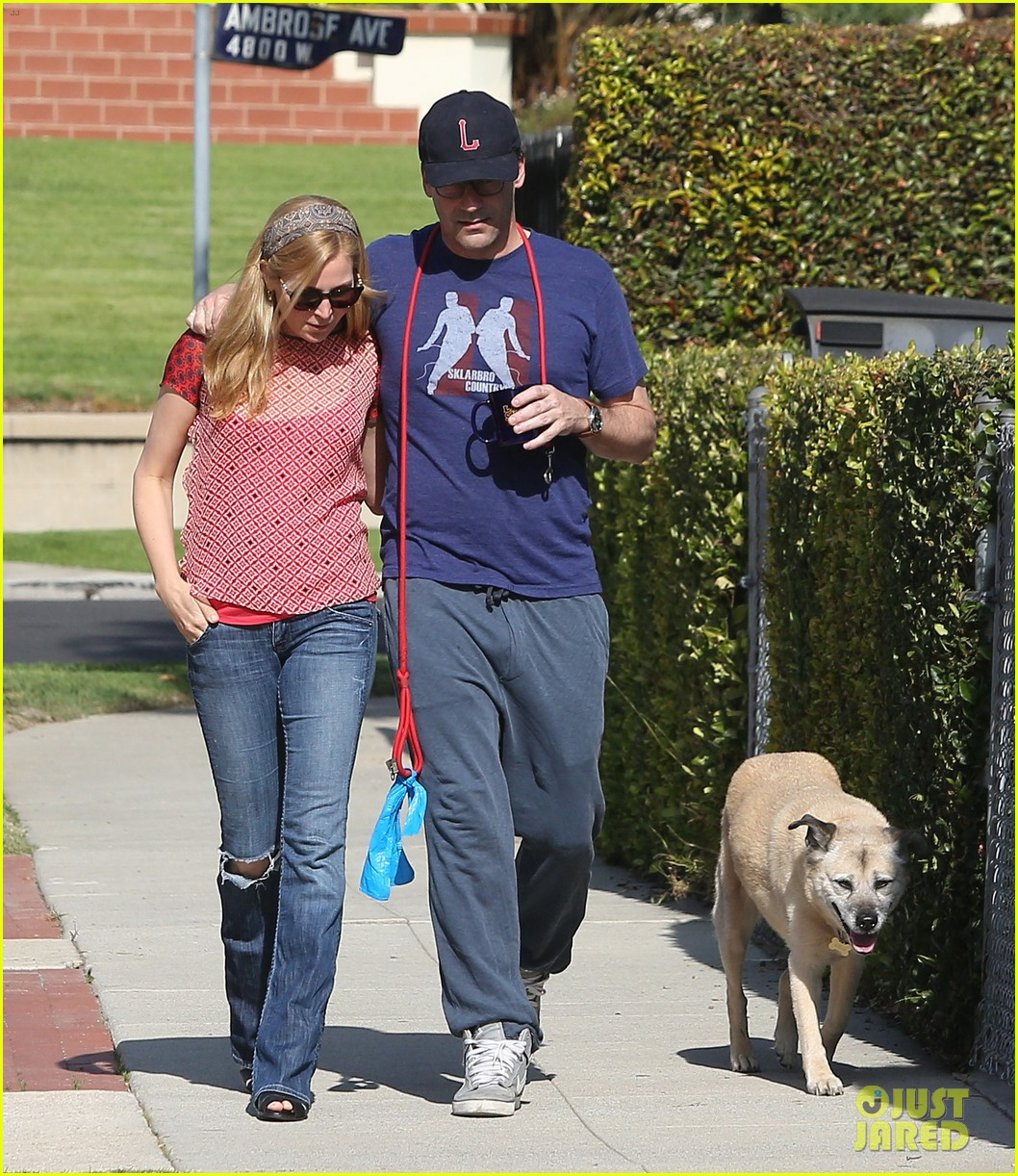 jon hamm stays comfy in sweatpants for morning dog walk 06