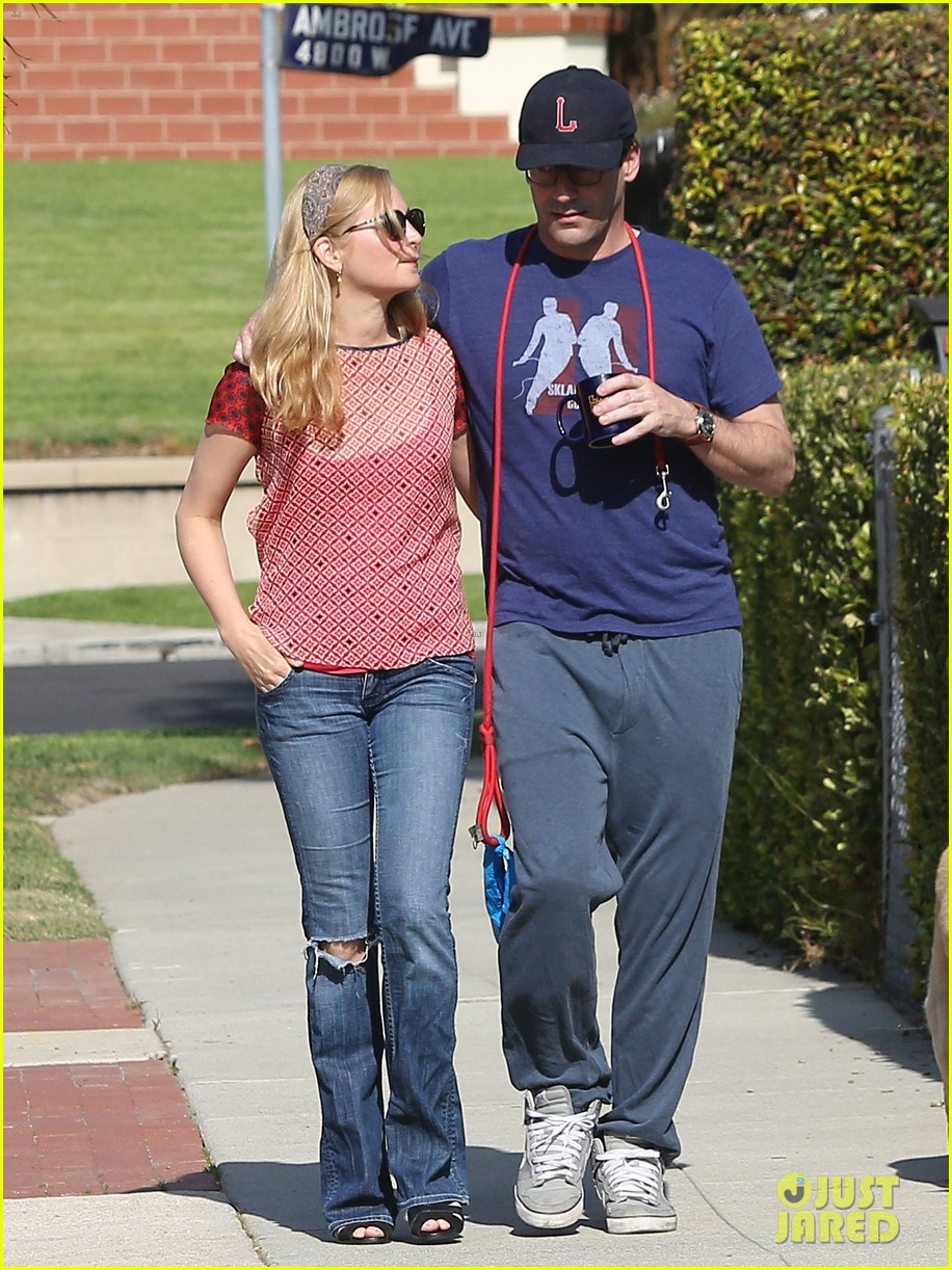 jon hamm stays comfy in sweatpants for morning dog walk 07