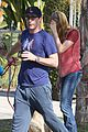 jon hamm stays comfy in sweatpants for morning dog walk 12