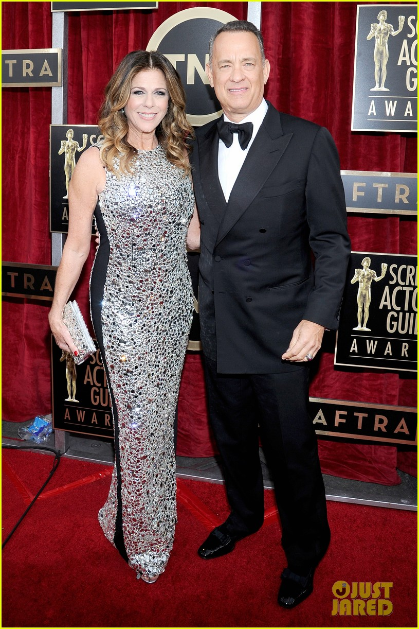 tom hanks sag awards 2014 red carpet with rita wilson 053034776