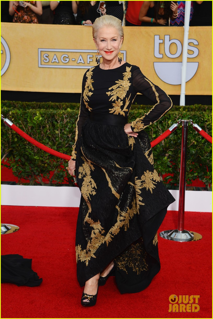 helen mirren sag awards 2014 red carpet 05