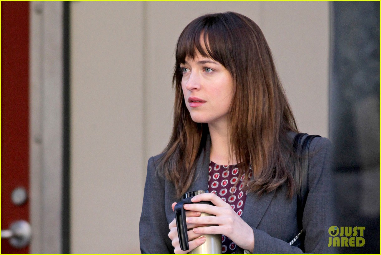 dakota johnson shoots fifty shades scenes with max martini 24