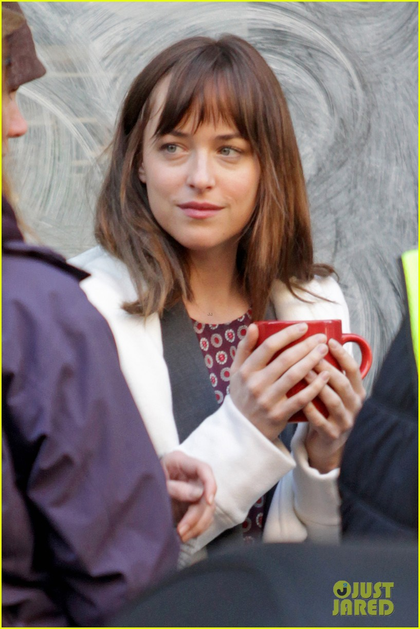 dakota johnson shoots fifty shades scenes with max martini 273033171