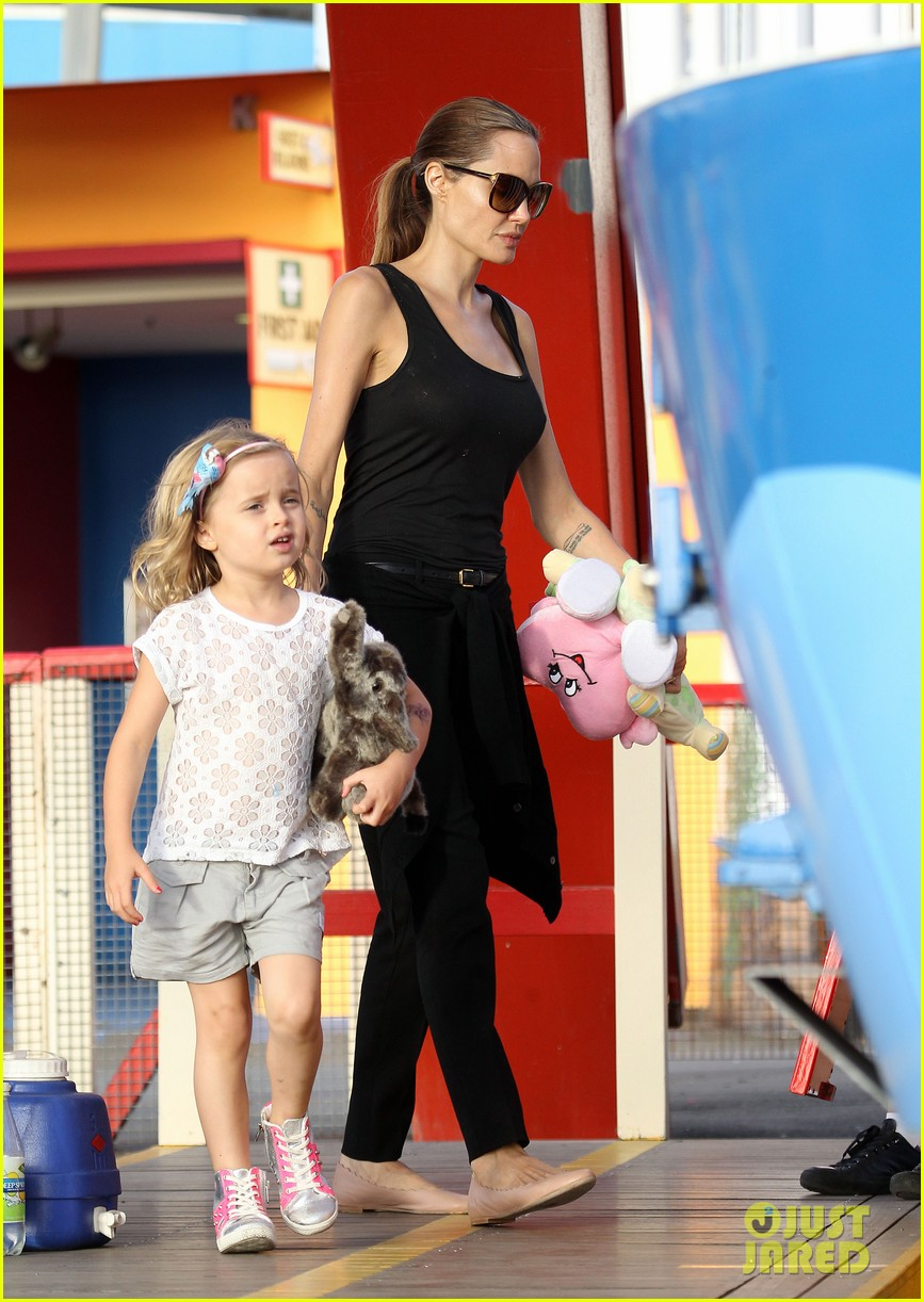 angelina jolie luna park fun with the kids 263024399