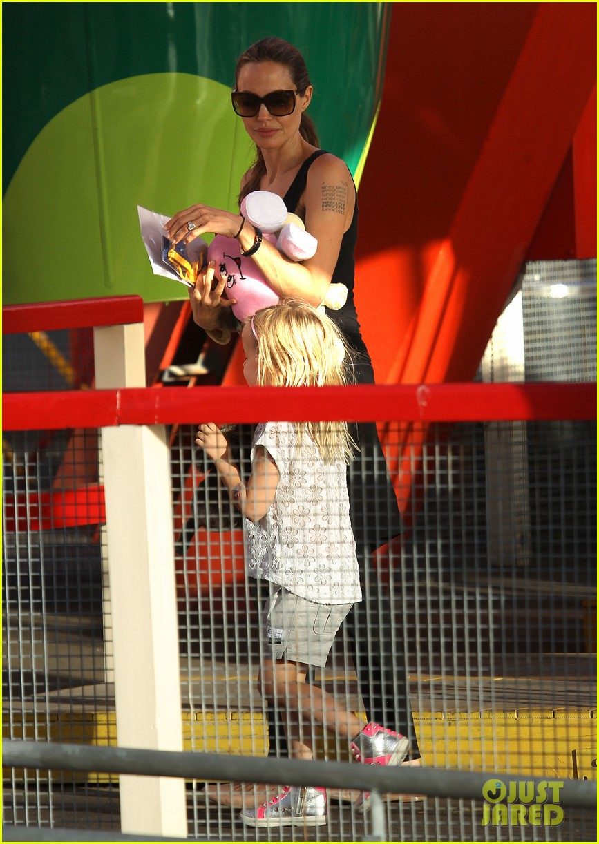 angelina jolie luna park fun with the kids 443024417