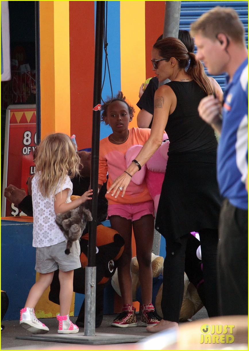 angelina jolie luna park fun with the kids 503024423