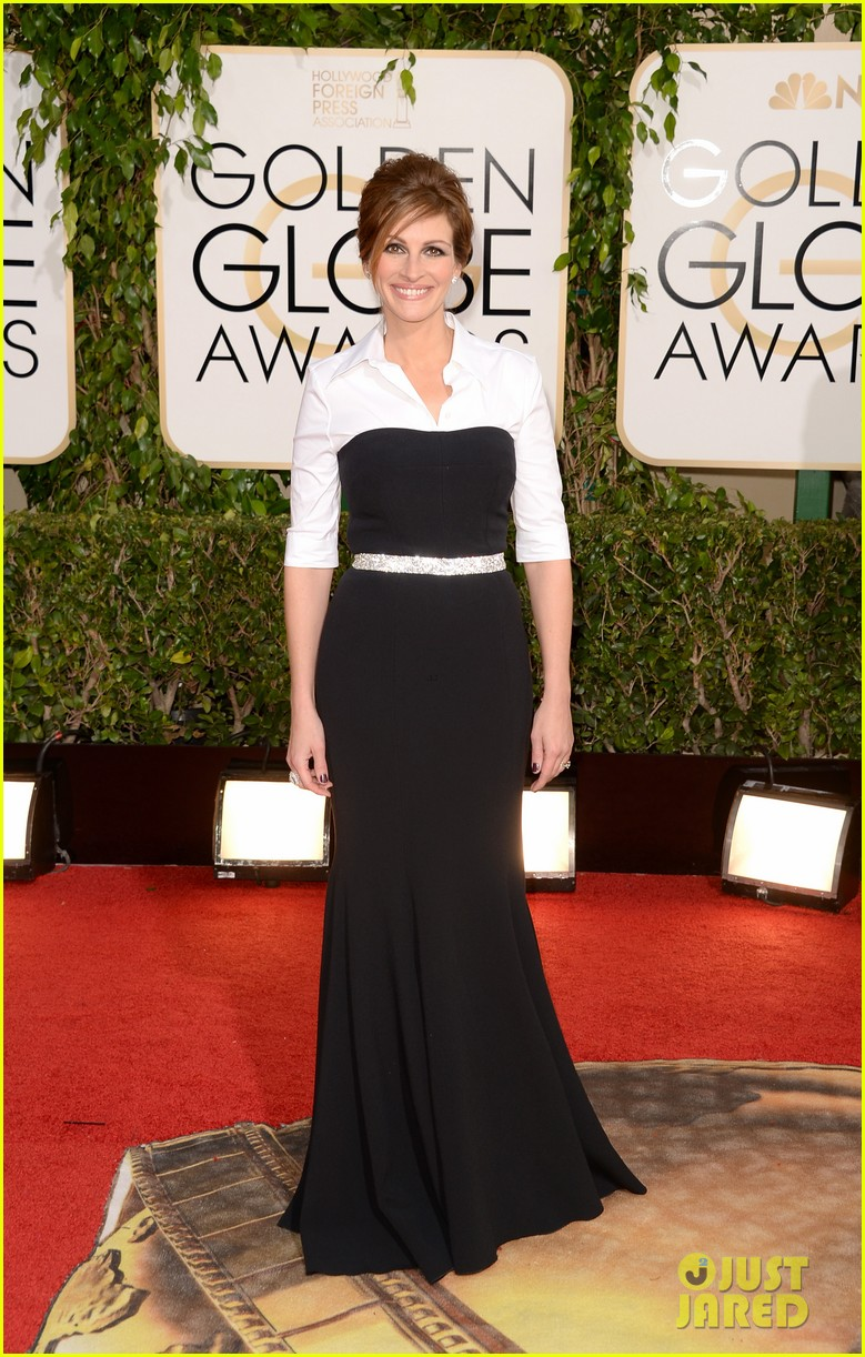 julia roberts golden globes 2014 red carpet 02