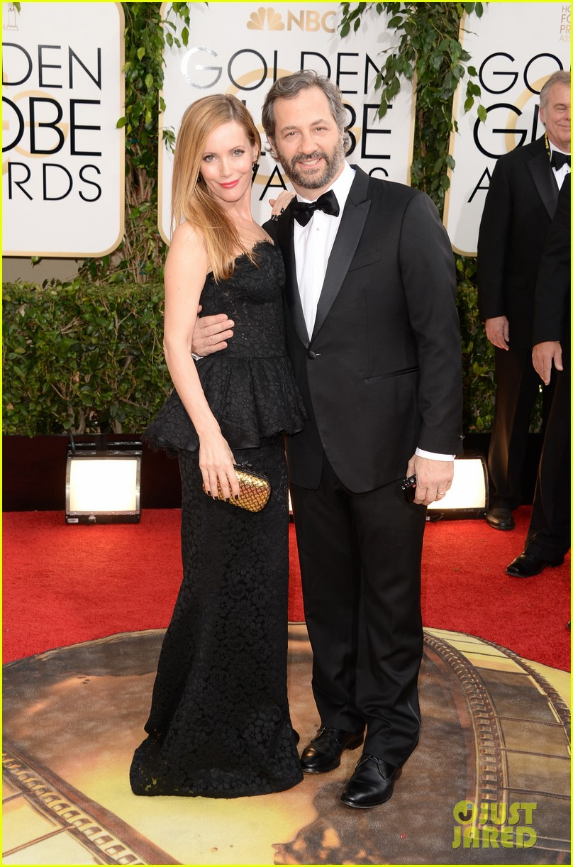 judd apatow leslie mann golden globes 2014 red carpet 023029135