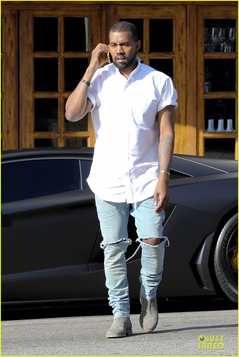 kim kardashian kanye west bright saturday outings 103027989