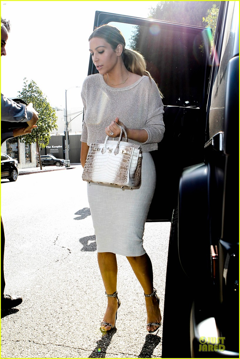 kim kardashian kanye west bright saturday outings 23