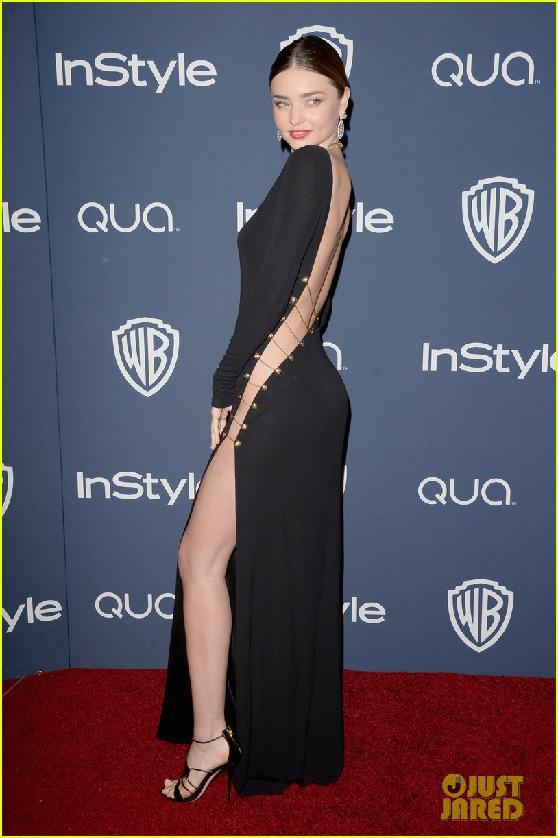 miranda kerr rocks full body slit at golden globes party 2014 01