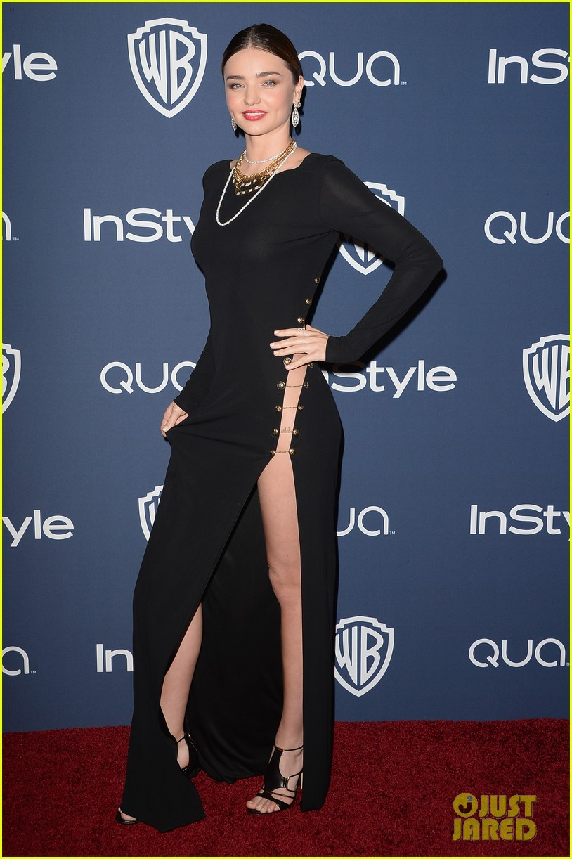 miranda kerr rocks full body slit at golden globes party 2014 033030009