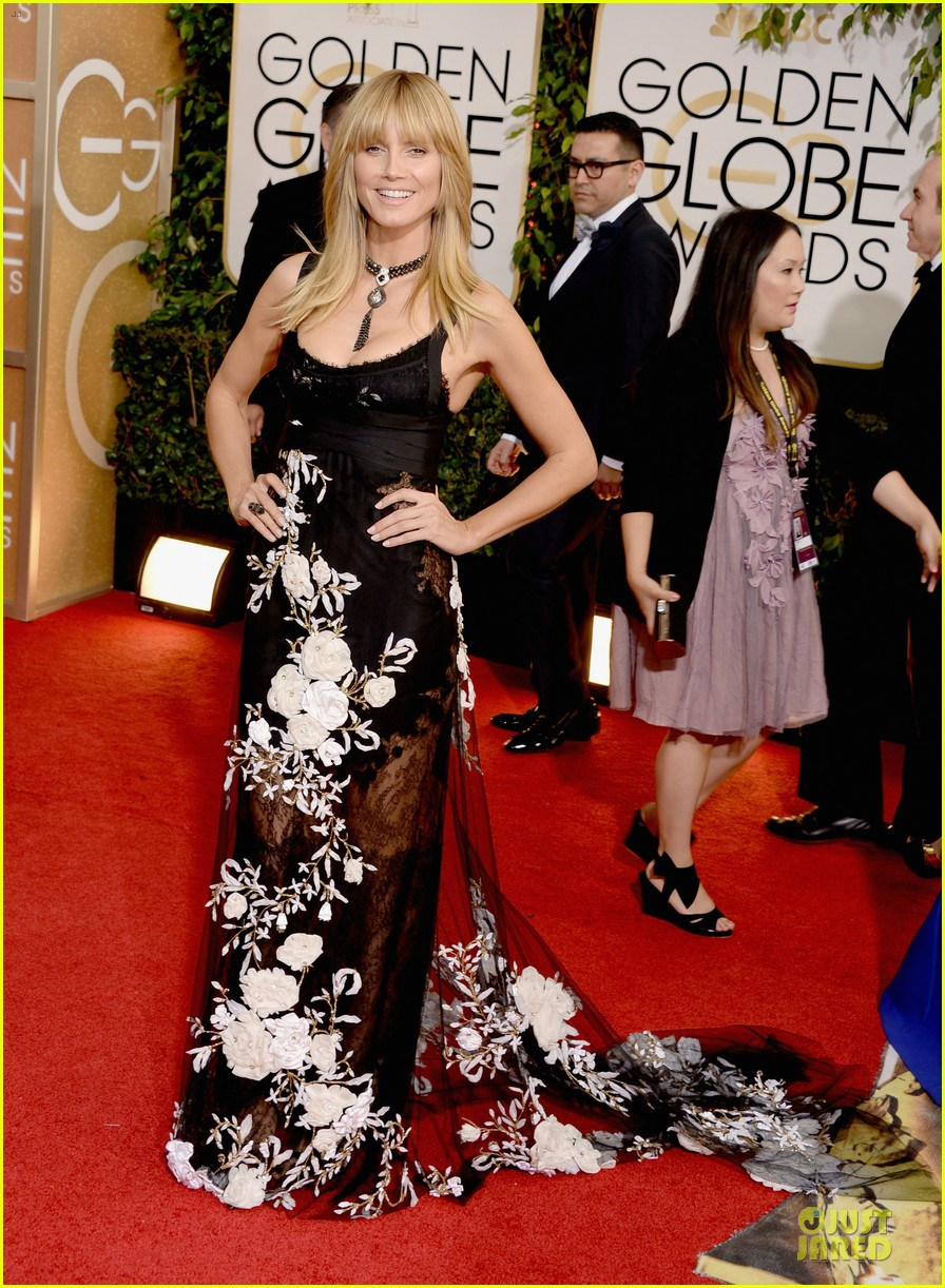 heidi klum golden globes 2014 red carpet 03