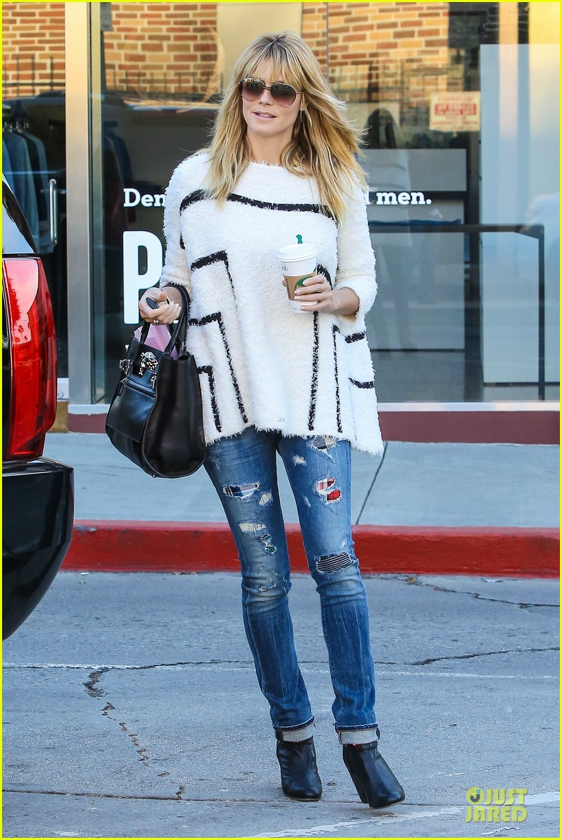 heidi klum grabs coffee before jag gym stop with the kids 143036051