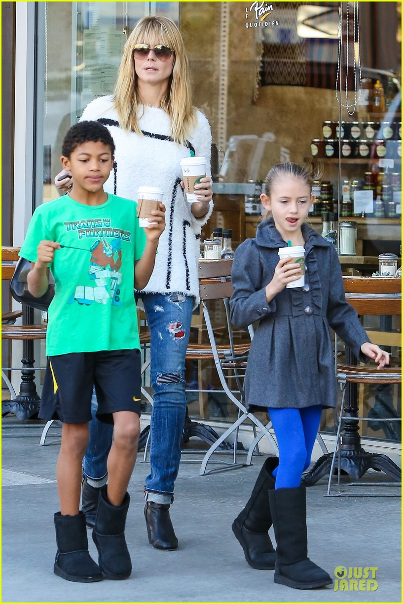 heidi klum grabs coffee before jag gym stop with the kids 263036063