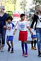 heidi klum grabs coffee before jag gym stop with the kids 07