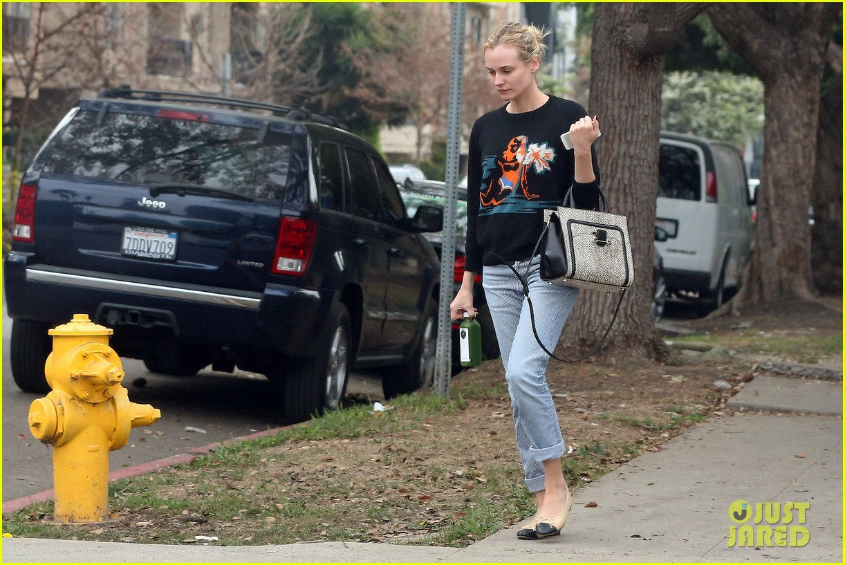 diane kruger wears no makeup looks fresh faced for errand run 16