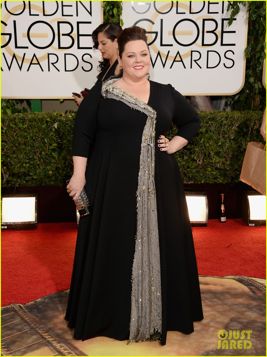 melissa mccarthy golden globes 2014 with ben falcone 03