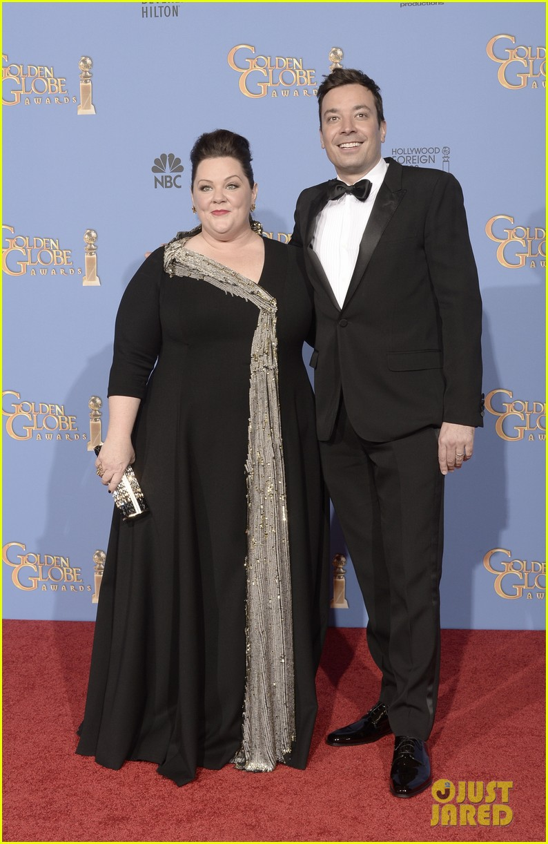 melissa mccarthy golden globes 2014 with ben falcone 04